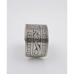 Bracciale in argento 925/°°° inciso e niellato