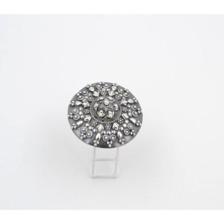 Anello in argento 925/°°° brunito India,