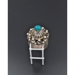 Anello In argento 925/°°° con turchese