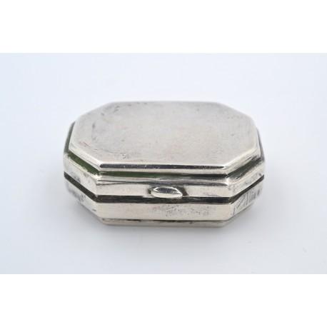 Vecchia scatola in argento novecentoventicinque