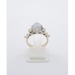 Anello in argento 925/°°° pietra di luna