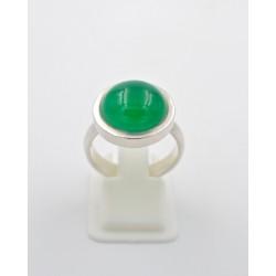 Anello in AG 925/°°° e agata verde