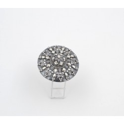 Anello in argento 925/°°° brunito India,