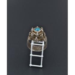 Anello in AG 925 con cabochon di turchese