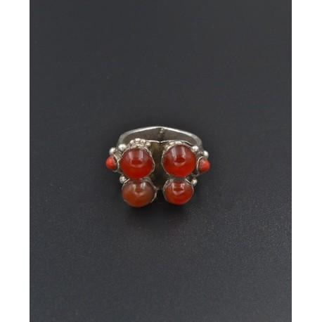 Anello in AG 925 corniole e corallini