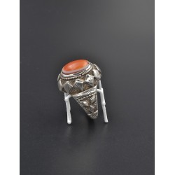 Anello persiano in argento 925/°°° e agata occhio di Shiva