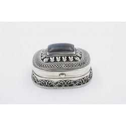 Scatola in argento 925/°°° con labradorite