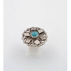 Anello in argento 925/°°° e turchese