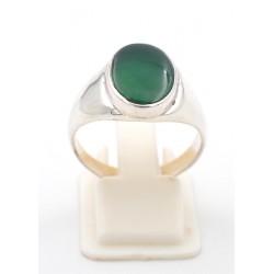 Anello in argento 925 e agata verde