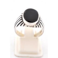 Anello in argento 925/°°° e onice
